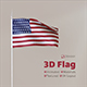 3D Flag (Animated) - 3DOcean Item for Sale
