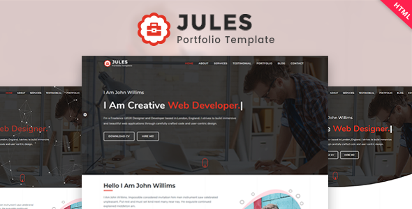 Jules - Minimal Personal Portfolio HTML Template