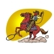 Cowboy on a Horse with a Lasso - GraphicRiver Item for Sale