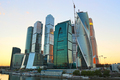 Moscow-city (Moscow International Business Center) at evening - PhotoDune Item for Sale