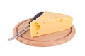 piece of cheese on board isolated - PhotoDune Item for Sale