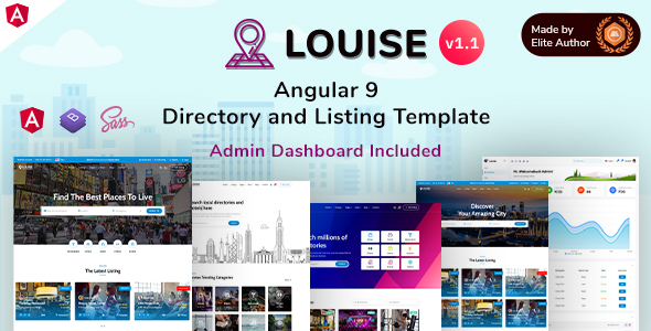 Louise - Angular 9 Directory & Listing + Admin Dashboard