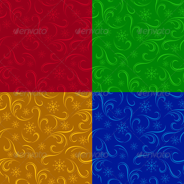 Winter seamless backgrounds