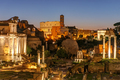 View over the ruins of the Roman Forum in Rome at dawn - PhotoDune Item for Sale