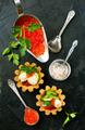 tartalets, butter and salmon caviar - PhotoDune Item for Sale