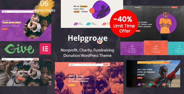 Helpgrove – Charity & Donation Theme Preview