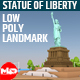 Low Poly The Statue of Liberty Landmark - 3DOcean Item for Sale