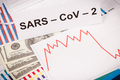 Inscription Sars-CoV-2, currencies dollar - PhotoDune Item for Sale