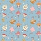 Pattern with Cartoon Gnomes and Mushrooms - GraphicRiver Item for Sale