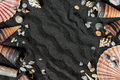 Background of Black Sand and Shells - PhotoDune Item for Sale