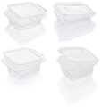 Empty transparent plastic food container isolated on white - PhotoDune Item for Sale