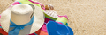 Sunny tropical beach vacation background - PhotoDune Item for Sale
