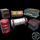 6 Models Sci-fi Crate Pack (Container, Box) - Openable Door - Low Poly - 3DOcean Item for Sale