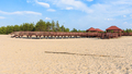Panoramic view of wooden structure on the edge od Bledow Desert - PhotoDune Item for Sale