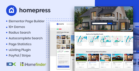 HomePress - Real Estate WordPress Theme 4
