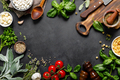 Culinary background with ingredients for cooking, herbs and spices - PhotoDune Item for Sale