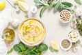 Hummus, mashed chickpeas with lemon, spices and herbs - PhotoDune Item for Sale