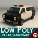 Low Poly Police Van 04 - 3DOcean Item for Sale
