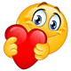 Emoticon Hugging Red Heart - GraphicRiver Item for Sale