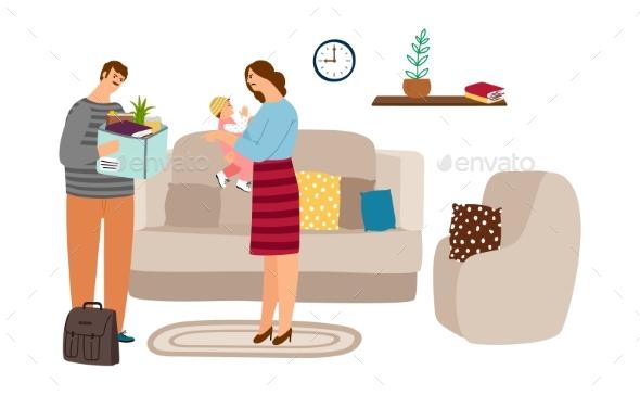 Family Quarrel Illustration