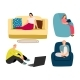 People Resting at Home - GraphicRiver Item for Sale
