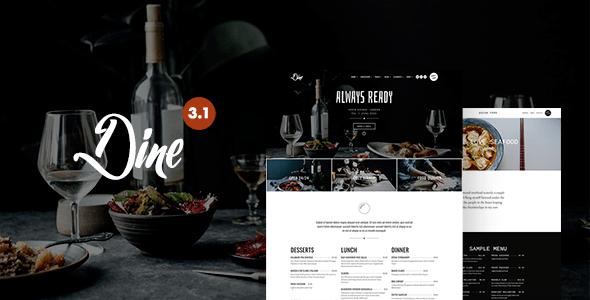 Dine - Elegant Restaurant WordPress Theme Download