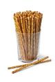 Glass with salted Pretzel sticks - PhotoDune Item for Sale