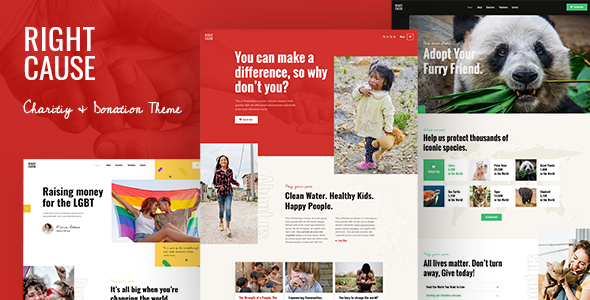 RightCause – Charity and Donation Theme Preview