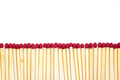 Matchsticks row on a white background - PhotoDune Item for Sale