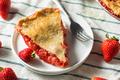 Sweet homemade Strawberry Rhubarb Pie - PhotoDune Item for Sale