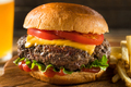 Homemade Grass Fed Cheeseburger - PhotoDune Item for Sale