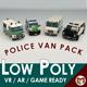 Low Poly Police Van Pack - 3DOcean Item for Sale
