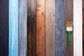 wooden plank board and paint brush - PhotoDune Item for Sale
