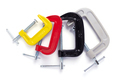 metal clamp or c-clamp on white background - PhotoDune Item for Sale