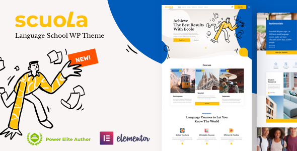 Scuola – Language School WordPress Elementor Preview