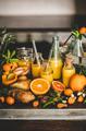 Fresh fruit vitamin immune boosting drink over concrete kitchen counter - PhotoDune Item for Sale