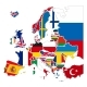 Detailed Silhouettes of Europe Countries - GraphicRiver Item for Sale
