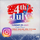 4th of July Instagram - GraphicRiver Item for Sale