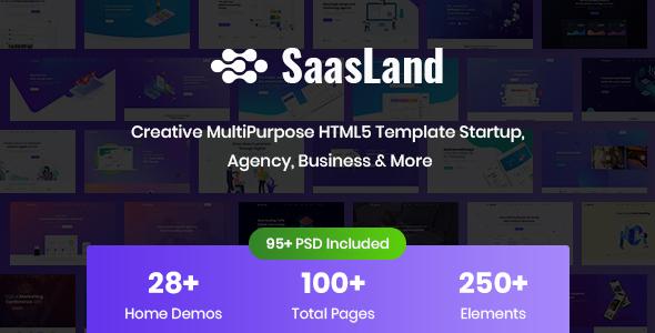 SaasLand – Creative HTML5 Template for Saas, Startup & Agency