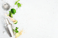 Background with ingredients for mojito cocktail - PhotoDune Item for Sale