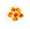 view of fried chicken nuggets on plate isolated - PhotoDune Item for Sale