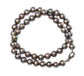 coiled necklace from natural black pearls isolated - PhotoDune Item for Sale