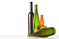 empty bottles on board with cutout background - PhotoDune Item for Sale