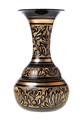 side view of carved brass indian vase isolated - PhotoDune Item for Sale