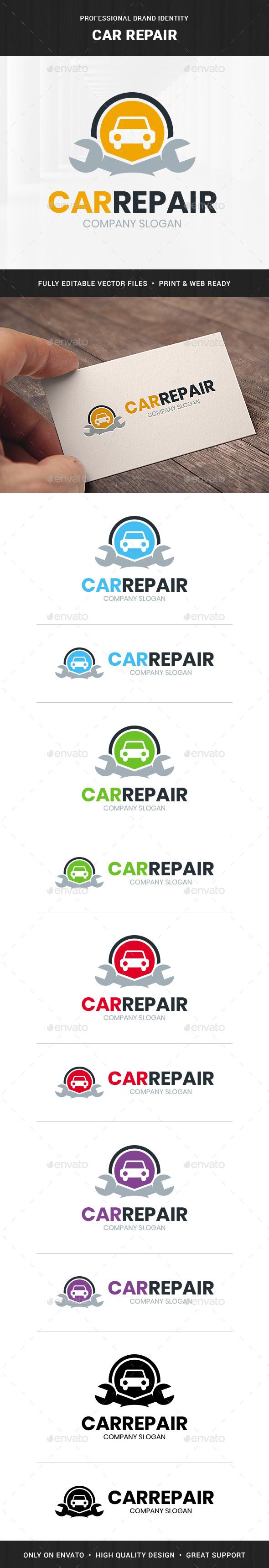 Car Repair Logo Template