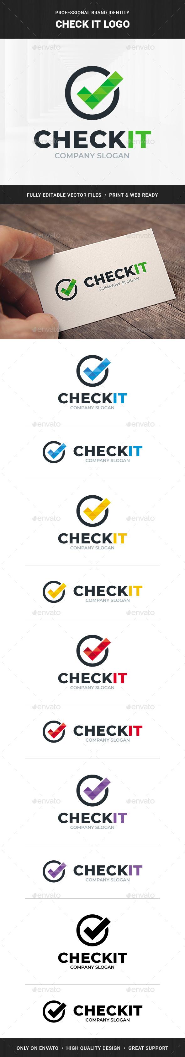 Check It Logo Template
