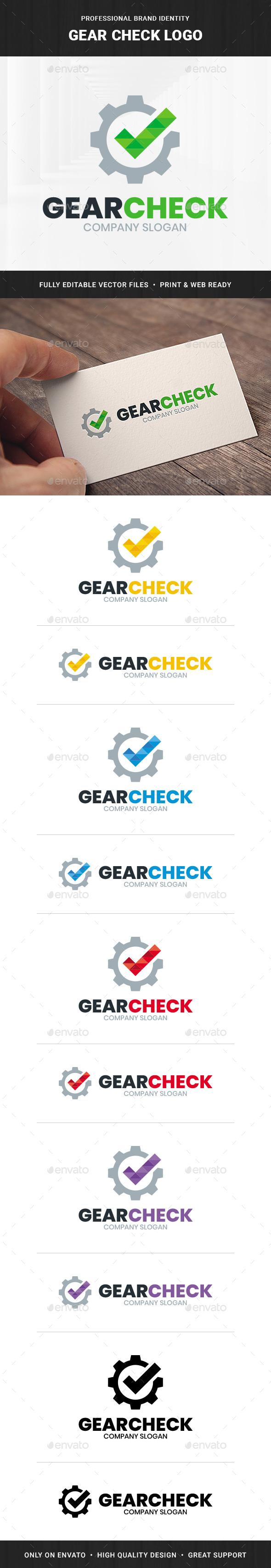 Gear Check Logo Temlate
