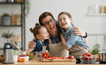 Happy family in the kitchen. - PhotoDune Item for Sale