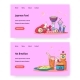 Food Online Vector Website Landing Page Template - GraphicRiver Item for Sale