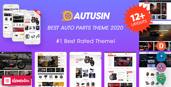 Autusin - Auto Parts & Car Accessories Shop WordPress WooCommerce Theme (12+ Homepages Ready)